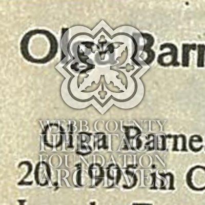 Barnes Olga Obituary