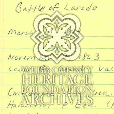 Scan of Battle of Laredo Notes