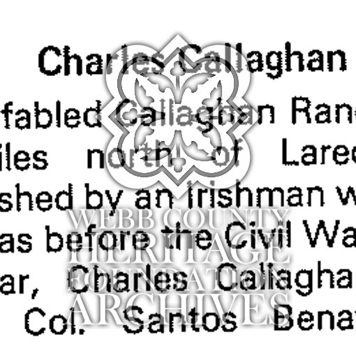 Charles Callaghan History Scan