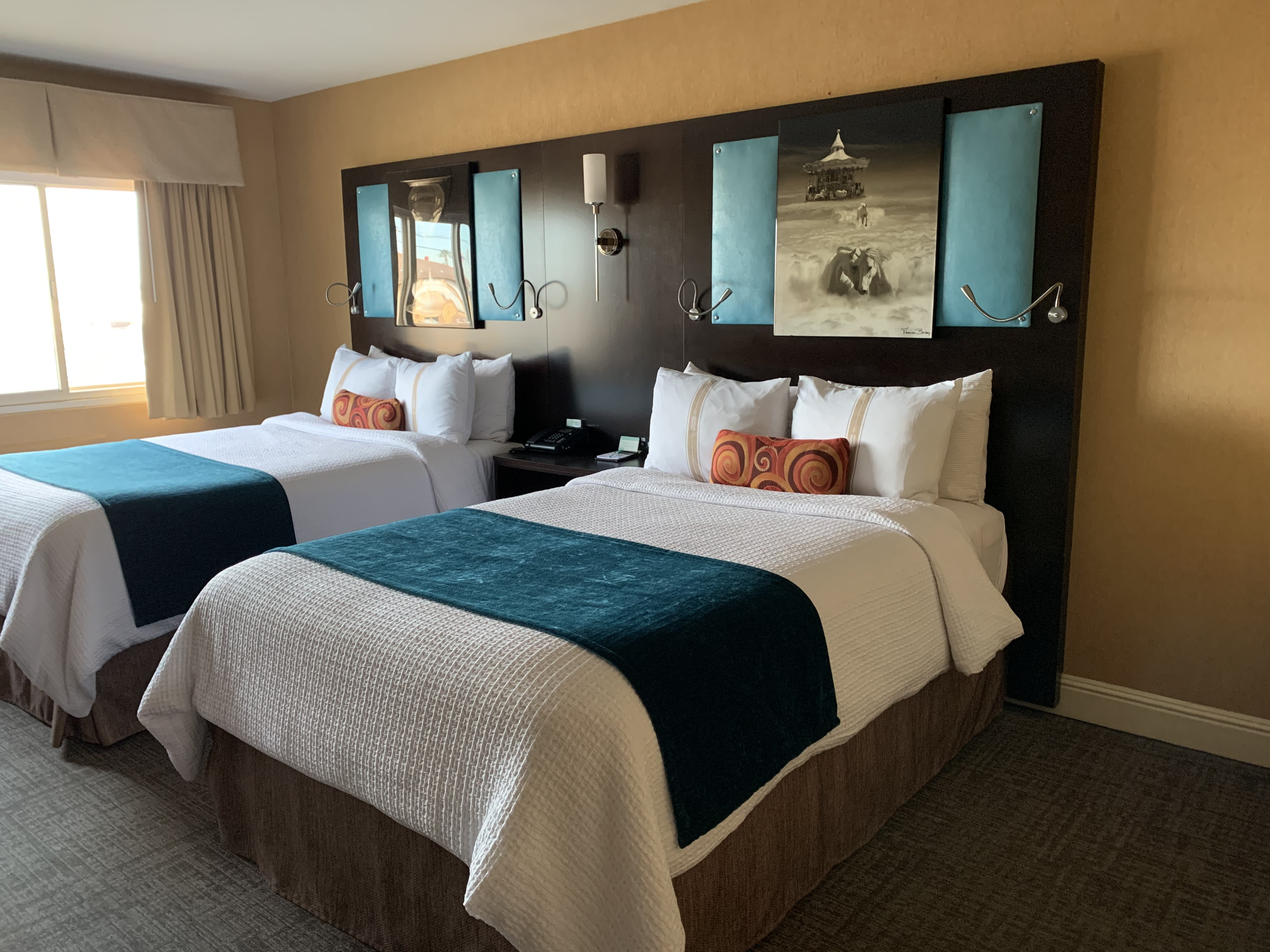 traditional double room with two double