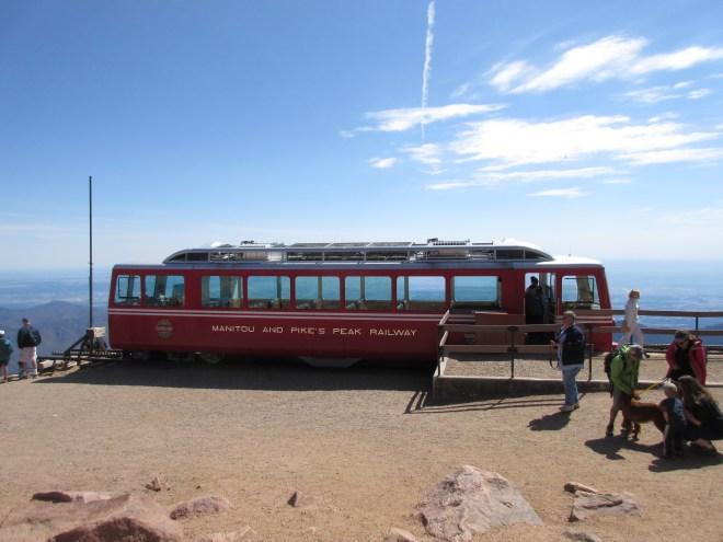Cog Railway Train at Summit of Pike's Peak