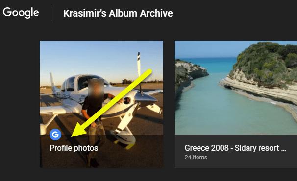 Google Profile Album