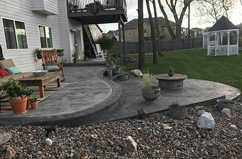 Decorative Concrete Grey Patio Outdoor