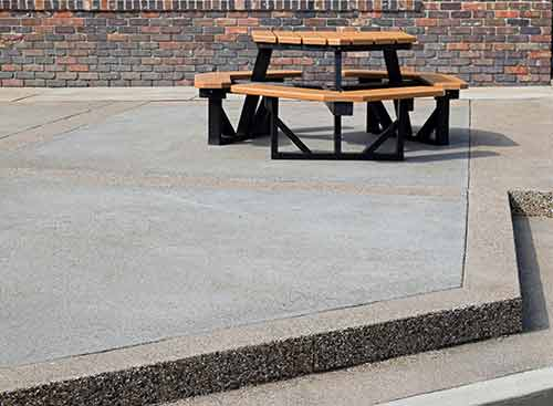 Commercial Exposed Concrete Outdoor Area Webb Signature Concrete