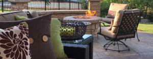 Webb Signature Concrete Outdoor Patio and Firepit