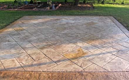 Webb Signature Concrete Custom Stamped Patio