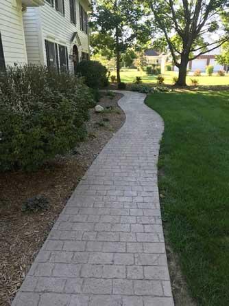 Webb Signature Concrete Custom Stamped Sidewalk Close Residential