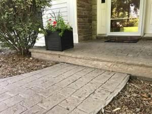Webb Signature Concrete Custom Stamped Sidewalk Close Up Residential