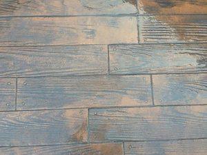 Webb Signature Concrete Wood Grain Stamped Concrete