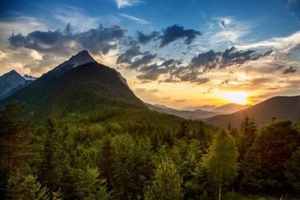 Sonnenuntergang Ederkanzel