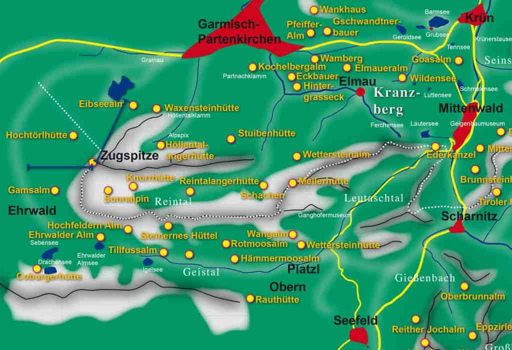 Karte Wettersteingebirge
