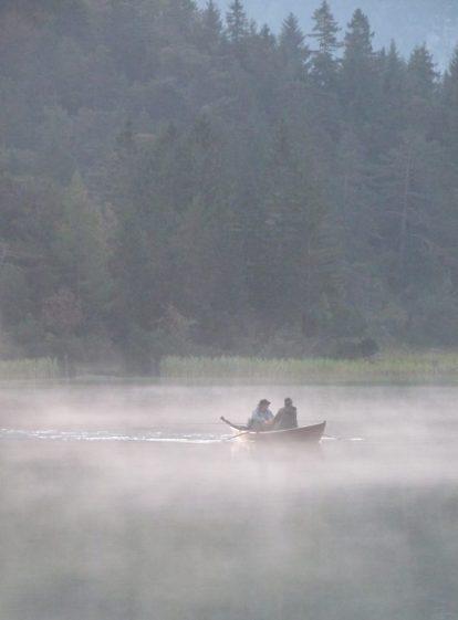 Angler im Nebel am Lautersee