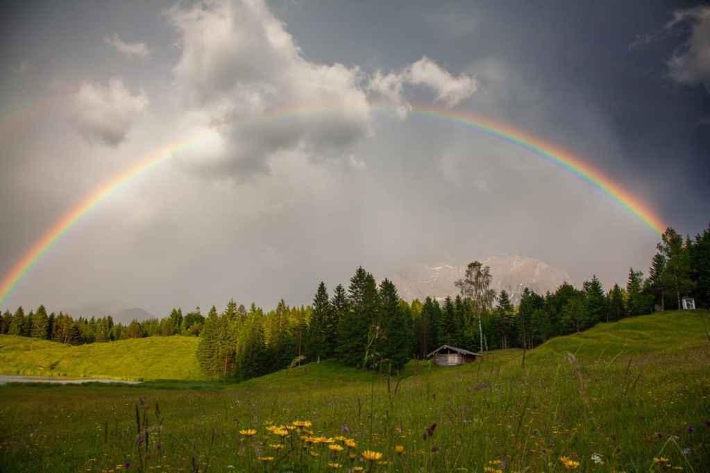 Regenbogen am Wildensee