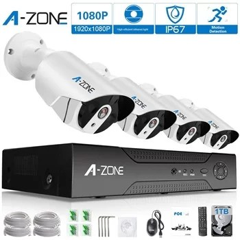 A-Zone 4 channel 1080p NVR system