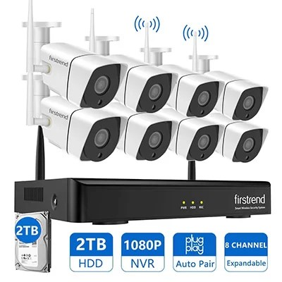 Firstrend 8 channel wireless security camera system kit