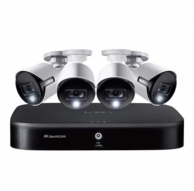 Lorex 8 channel dvr with 4pcs 4k security camera