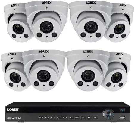 Lorex 16 channel nvr security camera system kit