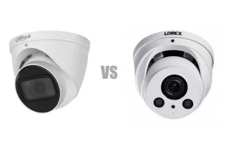 Lorex vs Dahua dome outdoor cameras