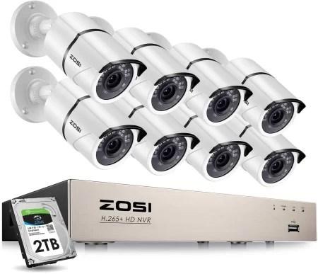 Zosi 8 channel camera kits