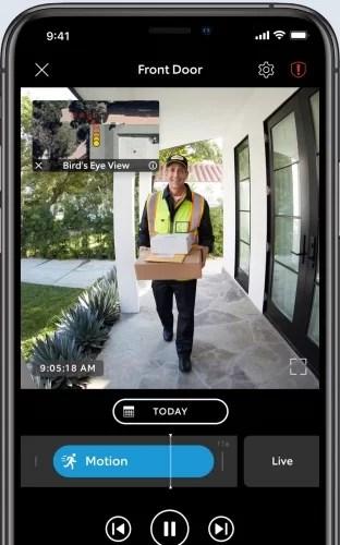 Ring pro 2 doorbell with bird's eye