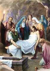 14ª ESTACIÓN: EL CADÁVER DE JESÚS PUESTO EN EL SEPULCRO