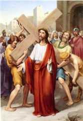 2ª ESTACIÓN: JESÚS CARGADO CON LA CRUZ