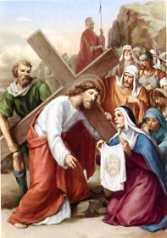 6ª ESTACIÓN: LA VERÓNICA ENJUGA EL ROSTRO DE JESÚS