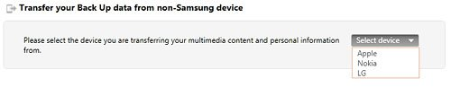 Non Samsung Device Selection