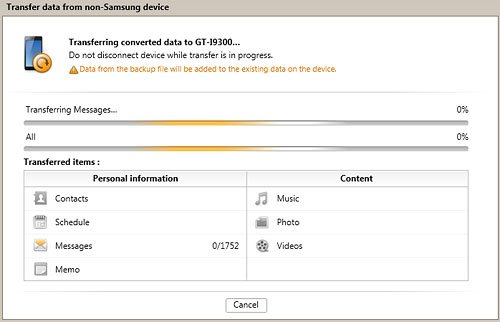 Transfer Data from non Samsung Device Windows