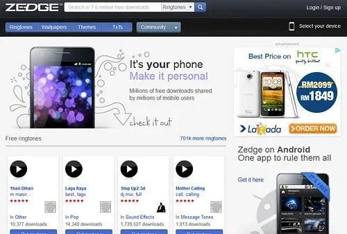 Zedge Website