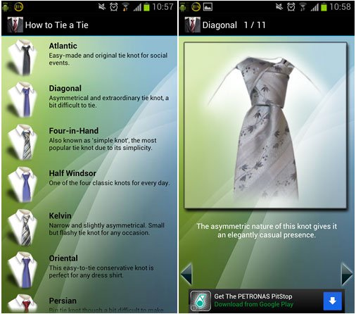 App how to tie a tie learn how to tie 13 different tie knots for how to tie a tie app ccuart Choice Image