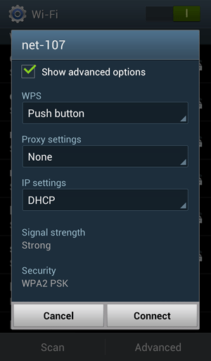 Push Button Selection