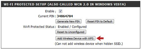 Add Wireless Device with WPS Optioin