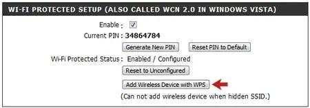 Add Wireless Device with WPS Optioin