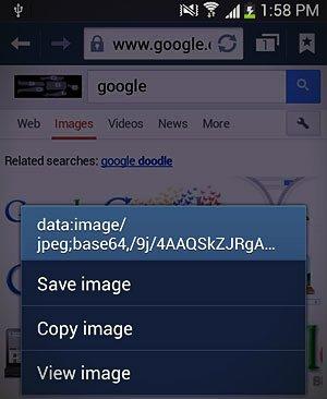 save image menu