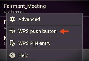 wps push button option