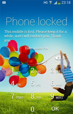phone locked lock screen