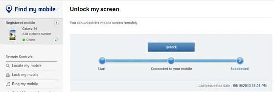 unlock my screen