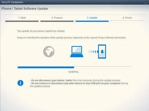 update tab