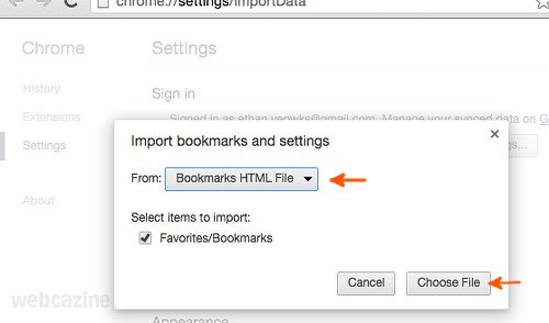 How to copy bookmarks from Samsung Internet browser to