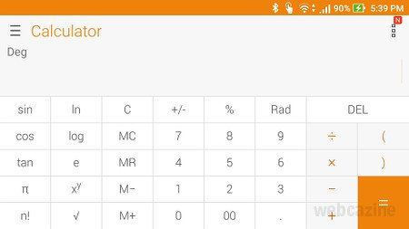 zenfone scientific calculator