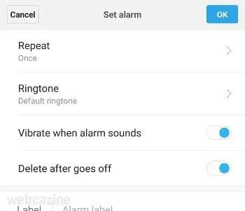 miui delete alarm