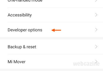miui developer options