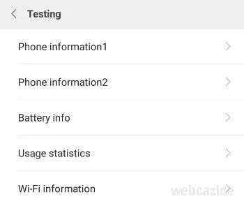 miui phone information