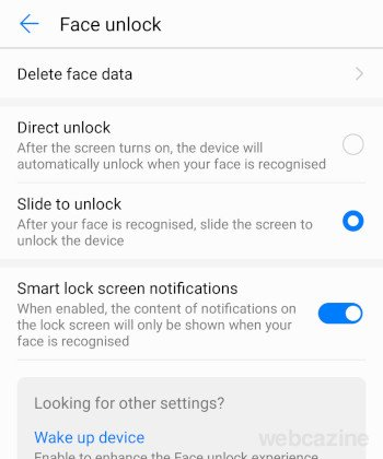 faceunlock slide to unlock