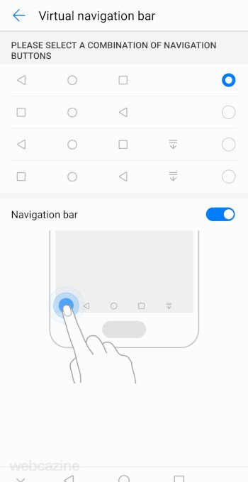 virtual navigation bar