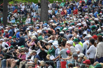 Patrons enjoying the afternoon at Augusta