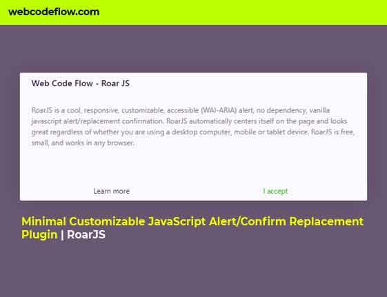 JavaScript-Alert-Confirm-Replacement