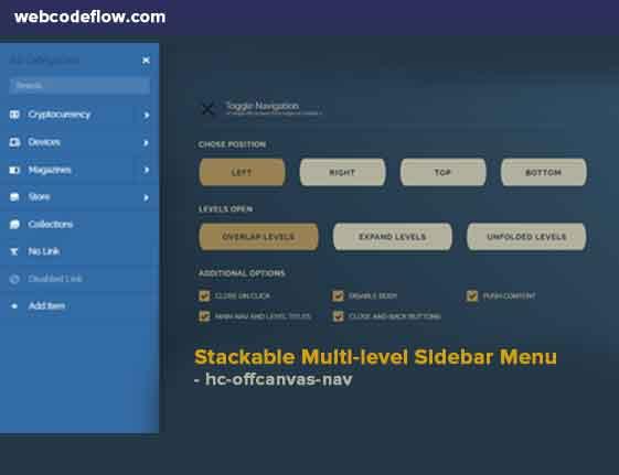 Stackable-Multi-level-Sidebar-Menu