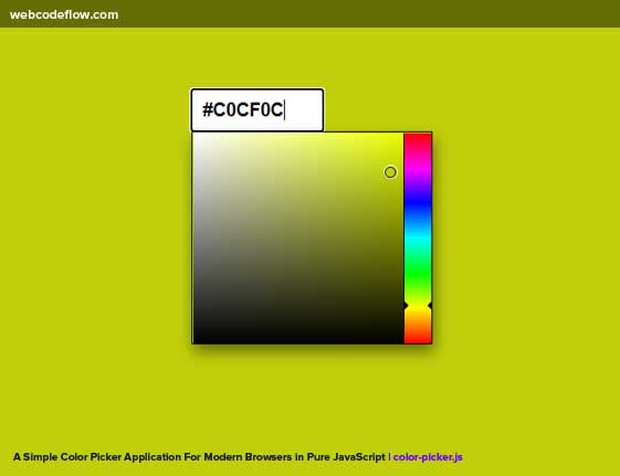 Color-Picker-Application-For-Modern-Browsers
